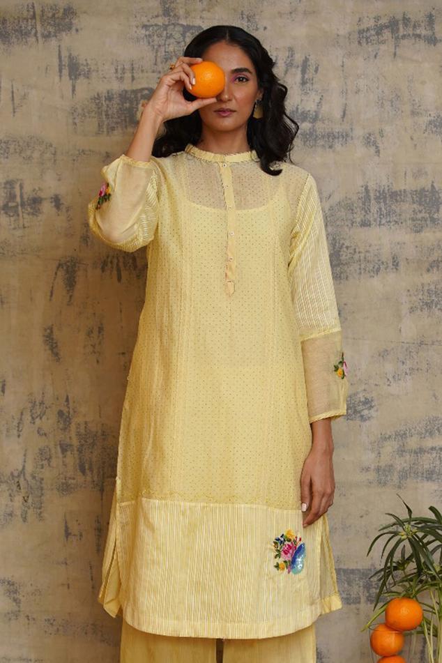 Block Print Dress with Slip
