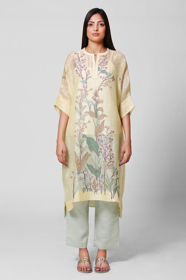 Linen Silk Kurta & Pant Set