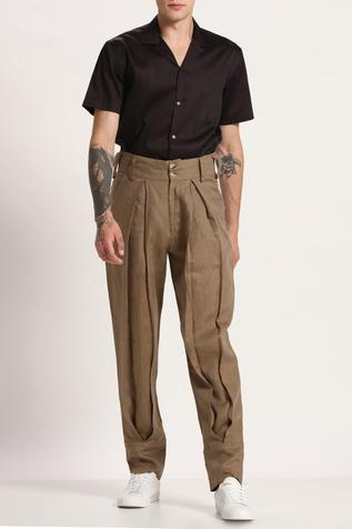 Linen Pleated Pants
