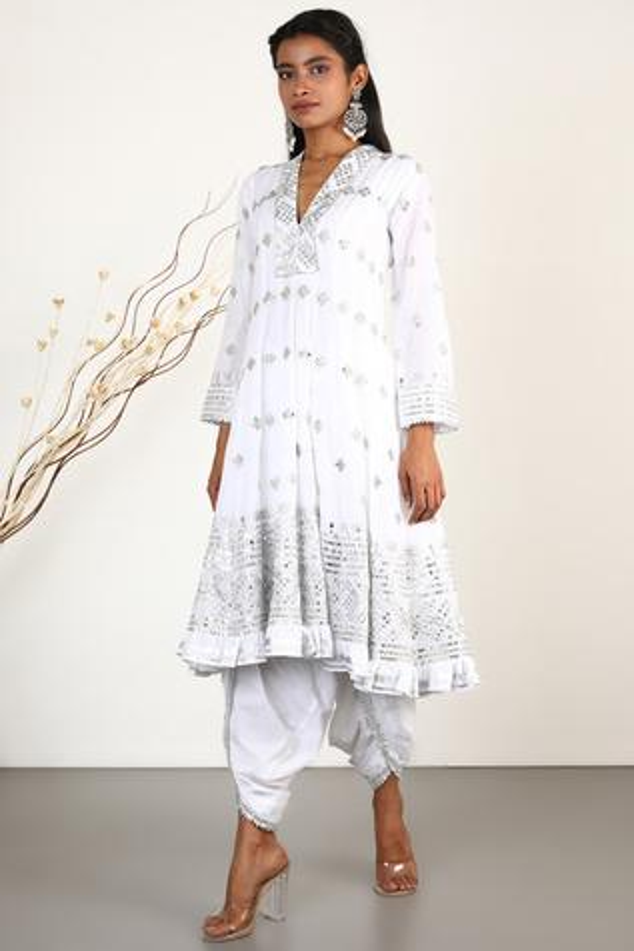 Embroidered Anarkali & Dhoti Pant