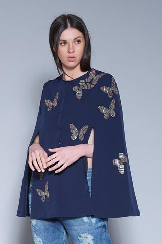 Embroidered Cape Jacket