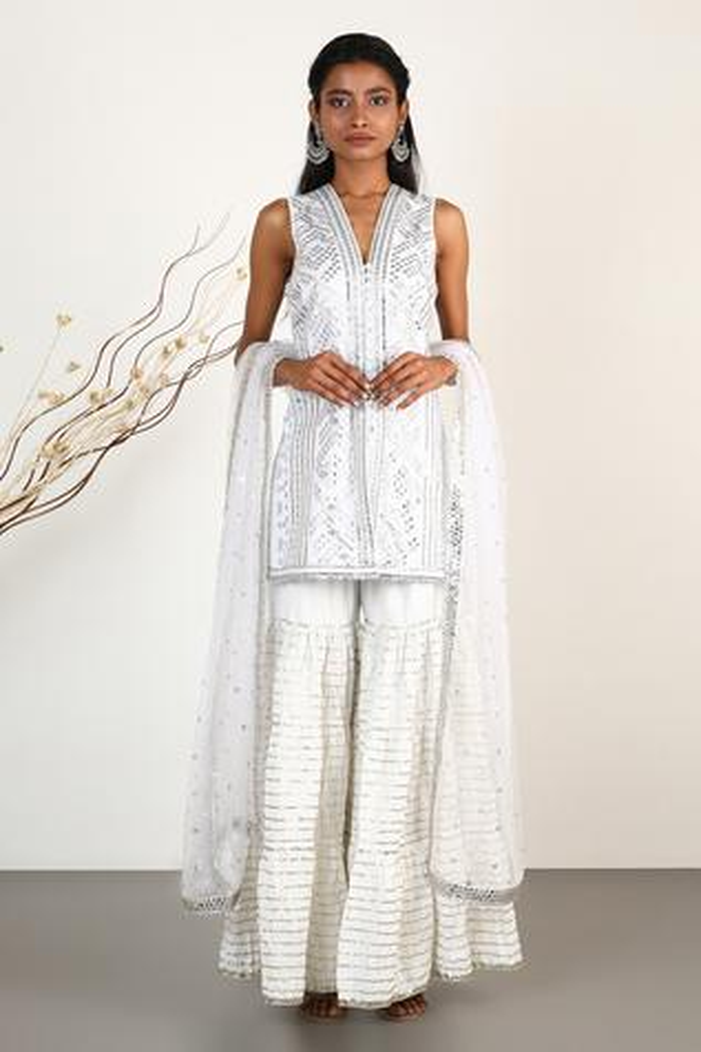 Mirror Embellished Kurta Set