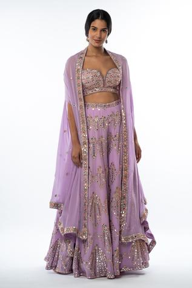Embellished Cape & Gharara Set