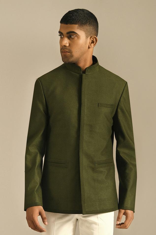 Textured Bandhgala