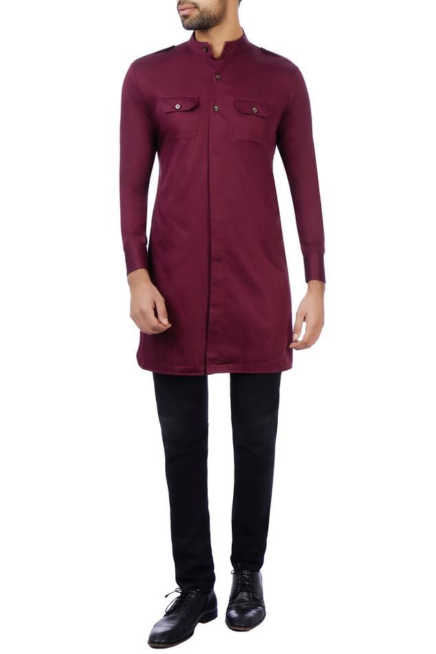 Cotton Silk Pathani Kurta