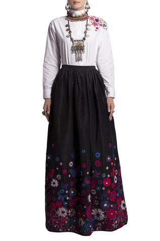 Cotton Embroidered Skirt Set