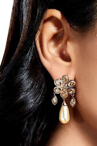 Suneet Varma bloom drop earrings