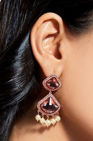 Suneet Varma celestial pink earrings