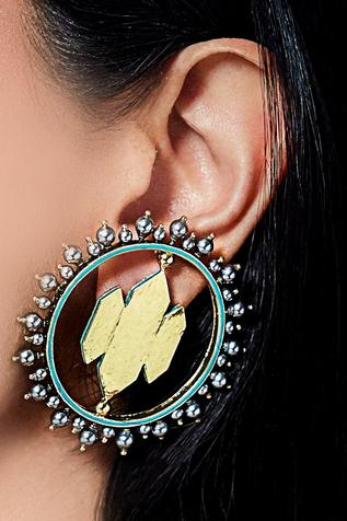 JJ Valya full moon earrings