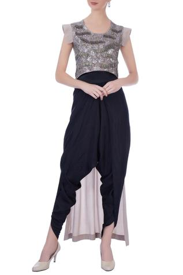 Silk Tunic & Dhoti Pant Set