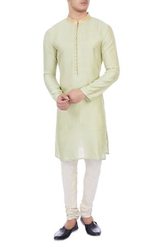 Mint green chanderi kurta