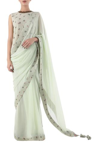 Hand Painted Saree with Blouse