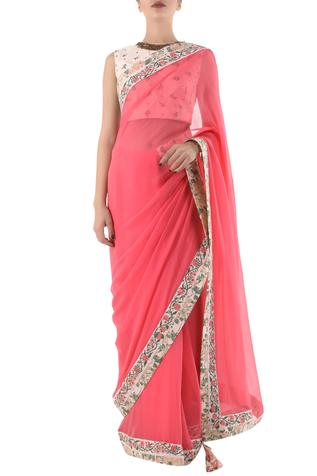 Chiffon Silk Saree with Blouse