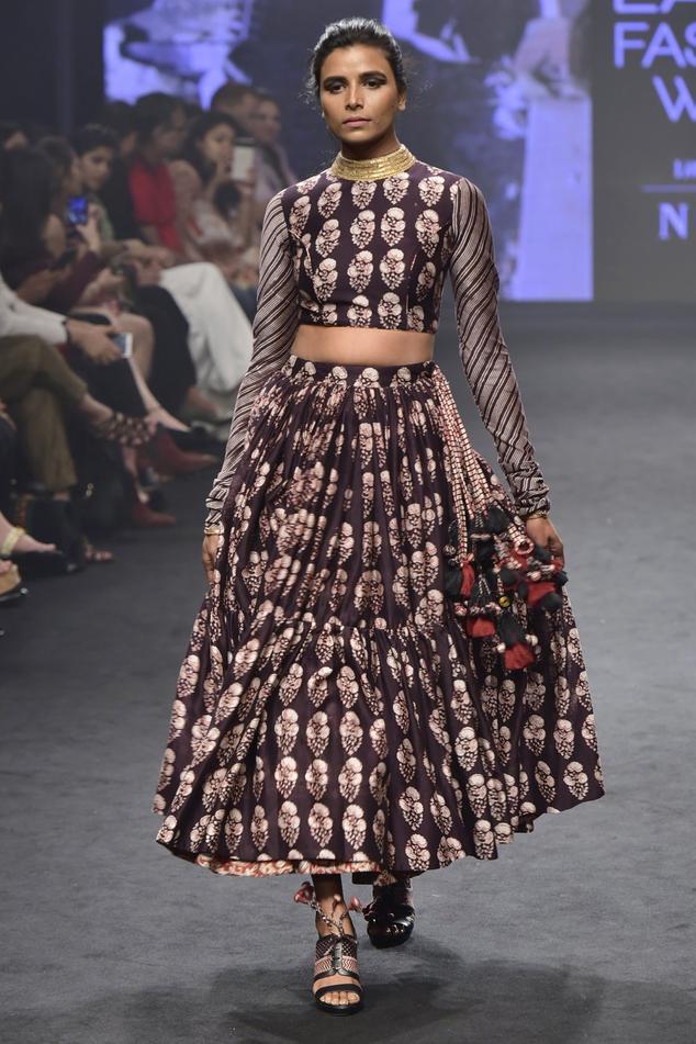 Chanderi Silk Skirt Set