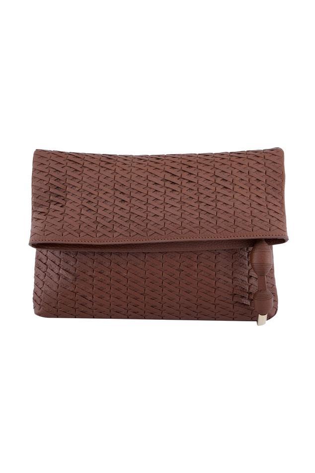 Tan-brown cross body bag with long handle