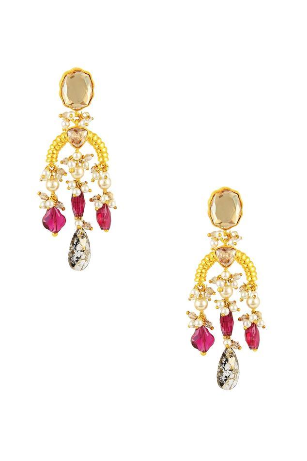 Tarun Tahiliani Heritage Long Earrings