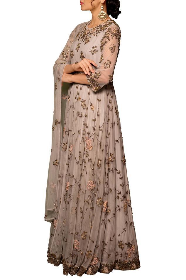 Embellished Anarkali Gown