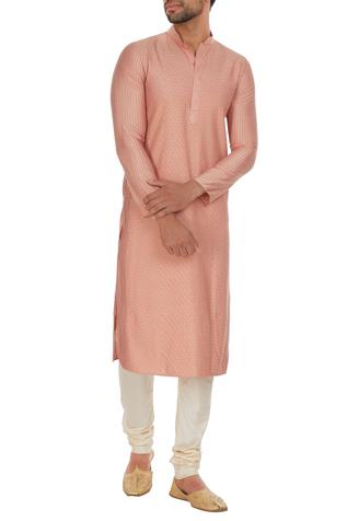 Pintuck cotton silk kurta