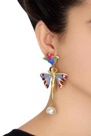 Whimsical butterfly shape earrings
