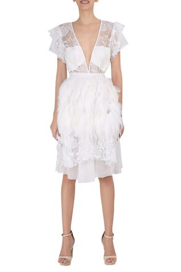 Embellished Layered Dress