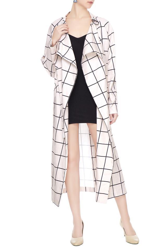 Checkered Long Jacket