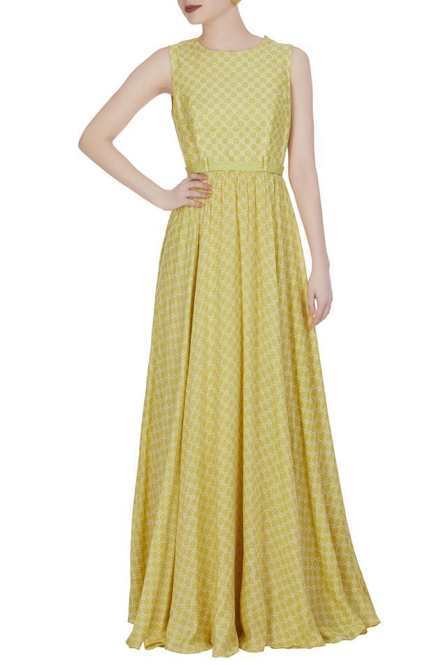 Printed long maxi dress