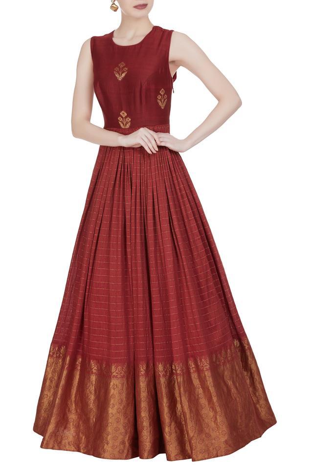 Woven Anarkali Gown