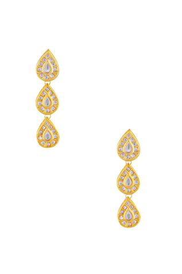 Tear drop shaped dangling earrings