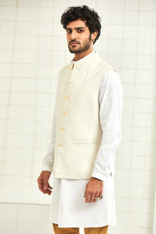 Handloom Linen Nehru Jacket