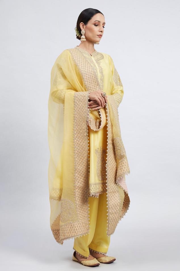 Rahbya Chanderi Kurta Set