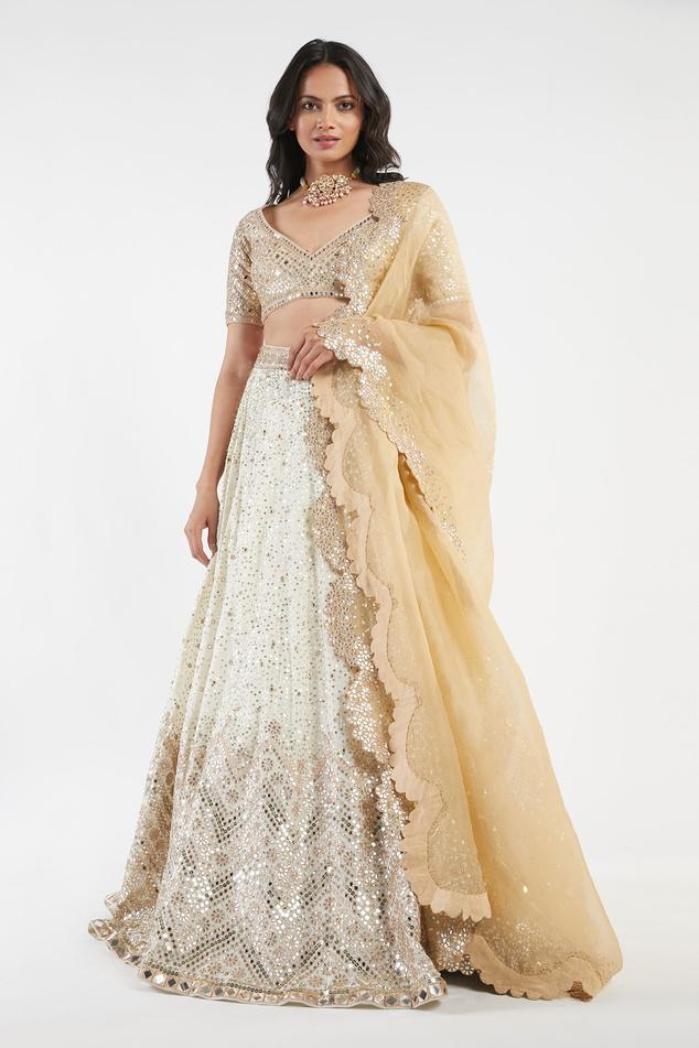 Chanderi Embellished Lehenga Set