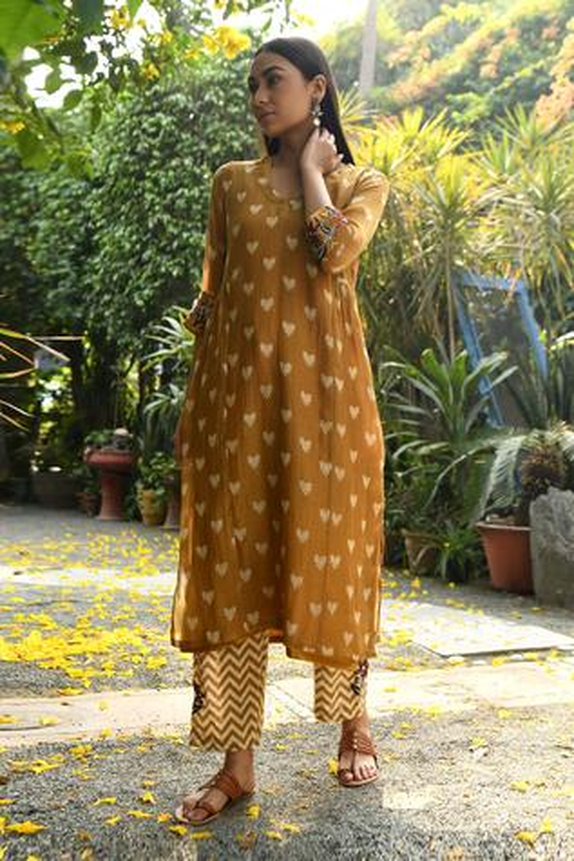 Handloom Chanderi Kurta & Pant Set