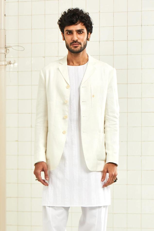 Linen Crepe Jacket