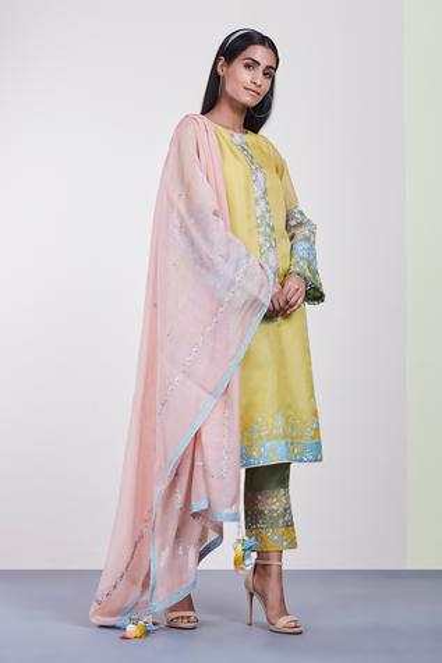 Chanderi Kurta & Pant Set