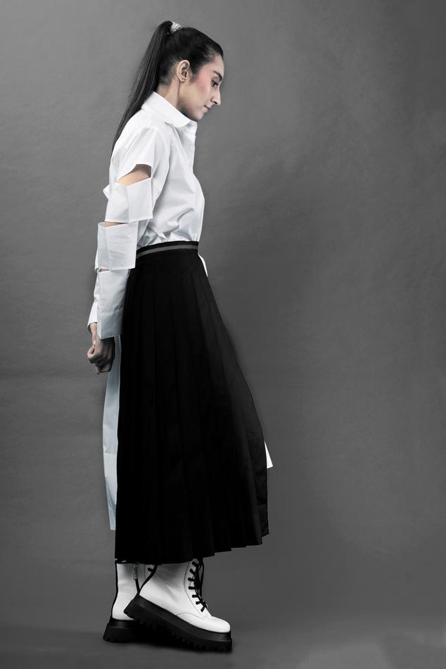Wraparound Half Skirt