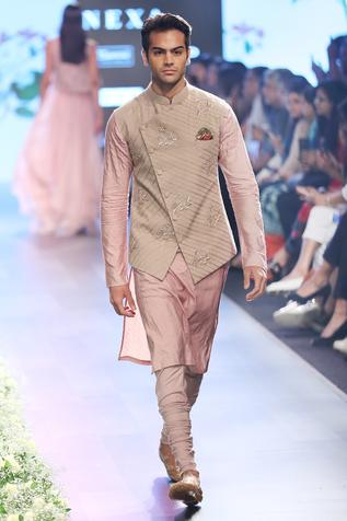 Embroidered Jacket & Kurta Set