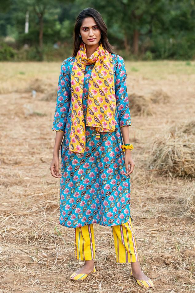 Silk Chanderi Kurta & Pant Set