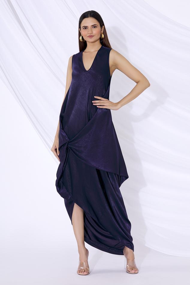 Draped Overlay Dress