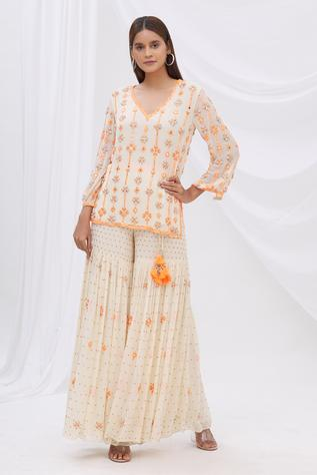 Embellished Sharara Pants