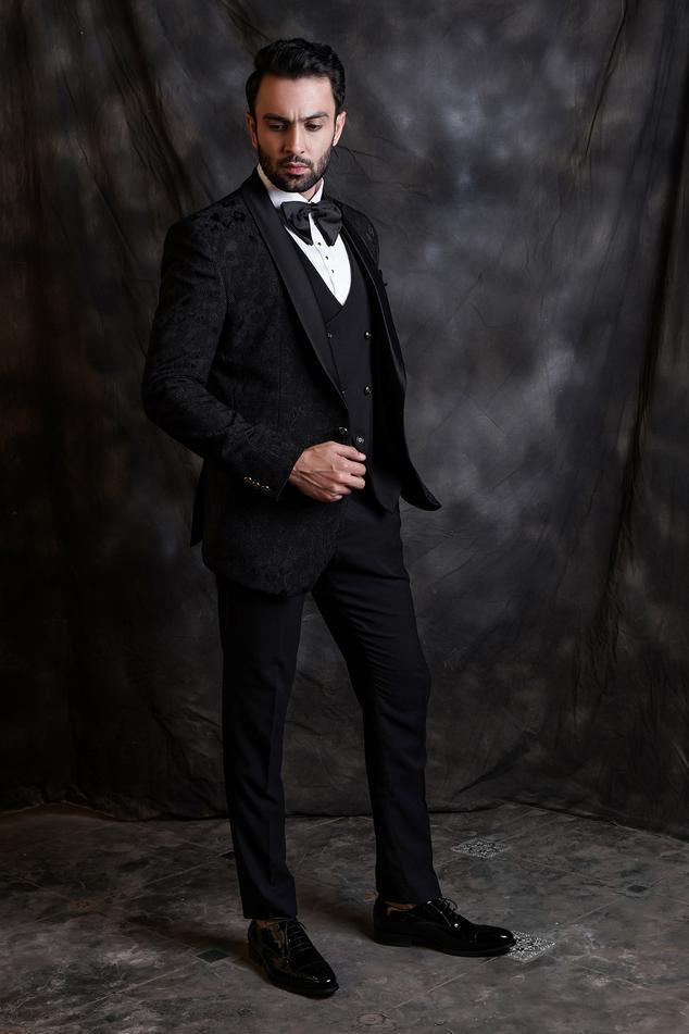 Jacquard Tuxedo & Pant Set