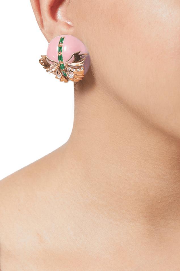 Papilio Button Stud Earrings
