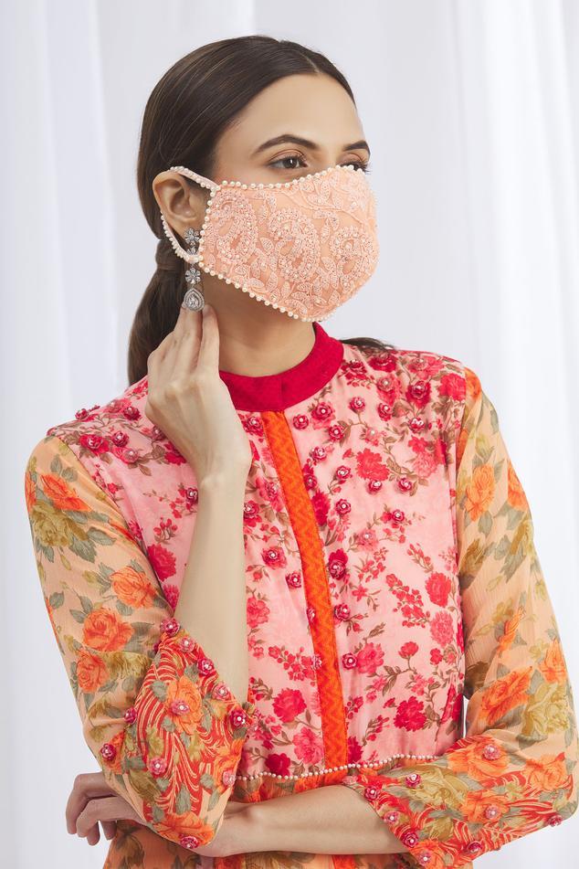 Chikankari Face Mask (Single Pc)