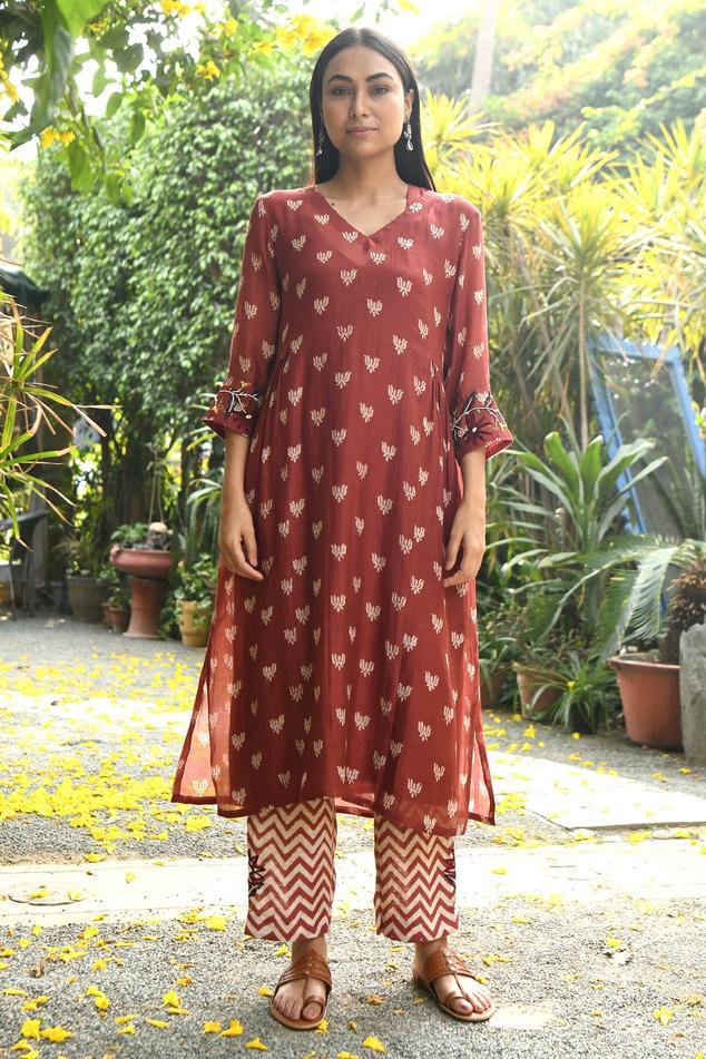 Handloom Chanderi Kurta Set