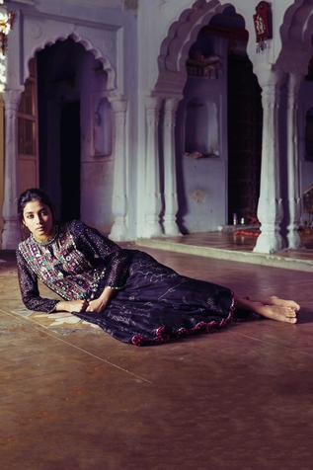 Chanderi Anarkali Set