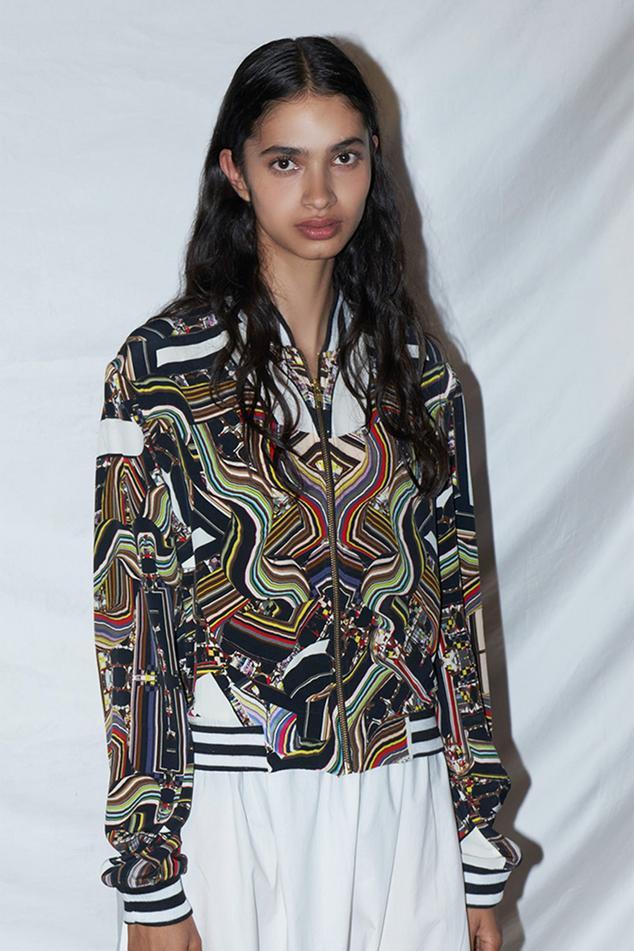 Silk Printed Bomber Jacket