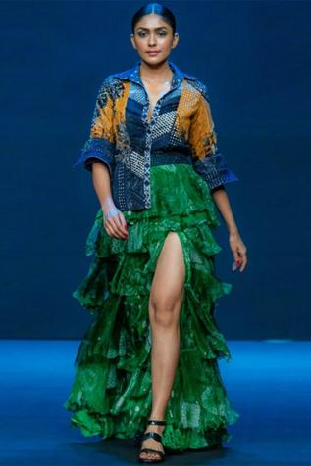 Layered Printed Skirt