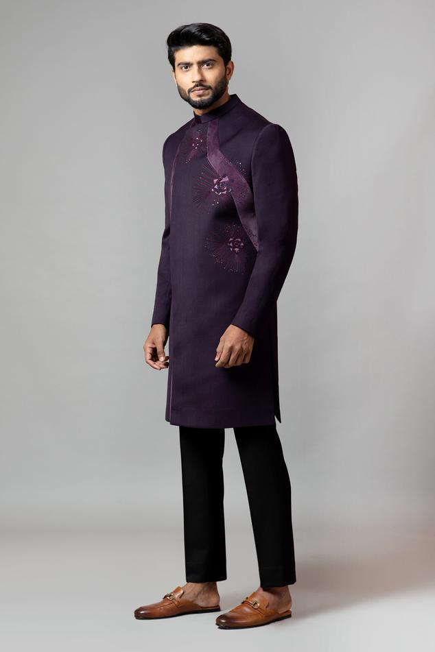 Overlap Sherwani & Pant Set