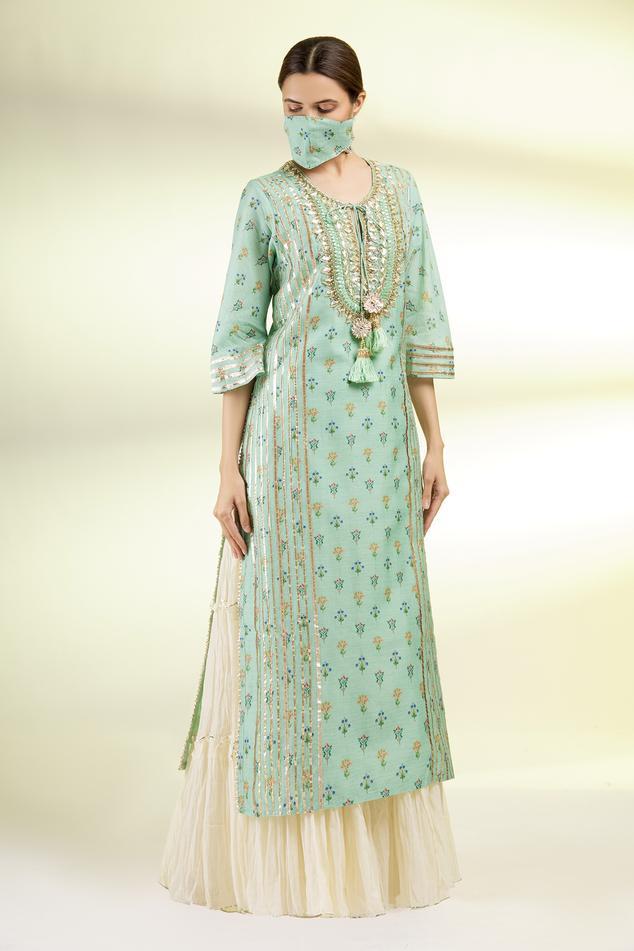 Chanderi Embroidered Tunic