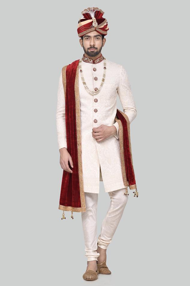 Chikankari Sherwani Set