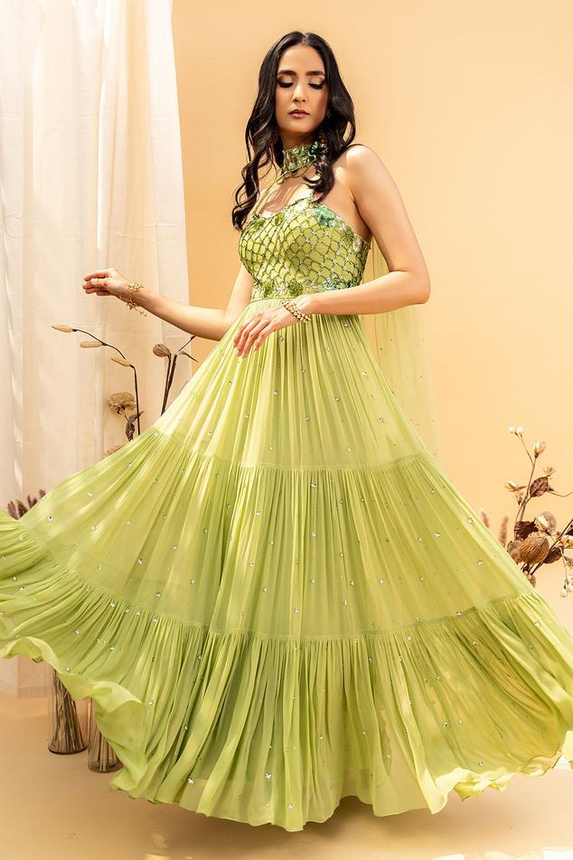 Embellished Anarkali with Dupatta